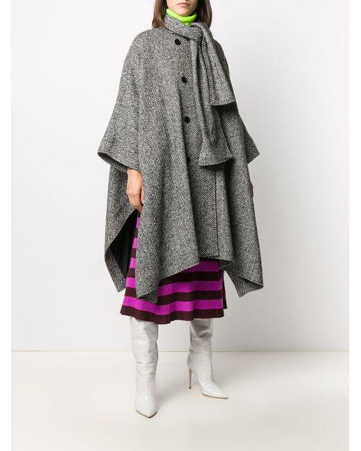 Пальто С Драпировкой MSGM, цвет: Black