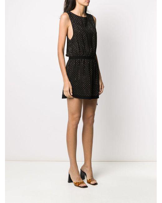 Платье Мини С Заклепками Saint Laurent, цвет: Black