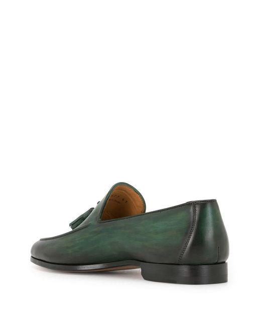 メンズ Magnanni Shoes タッセル ローファー Green