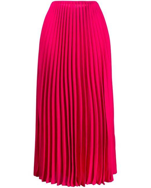 Юбка Миди Со Складками Valentino, цвет: Pink