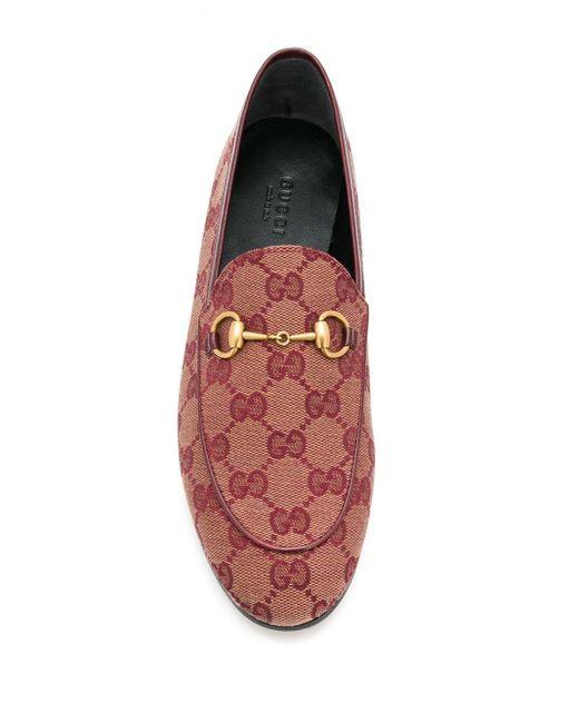 Лоферы Jordaan С Узором GG Gucci, цвет: Red