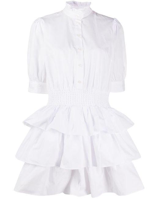 MICHAEL Michael Kors ラッフルネック シャツドレス White