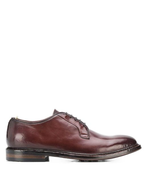 Officine Creative Brown Lace-up Derby Shoes for men