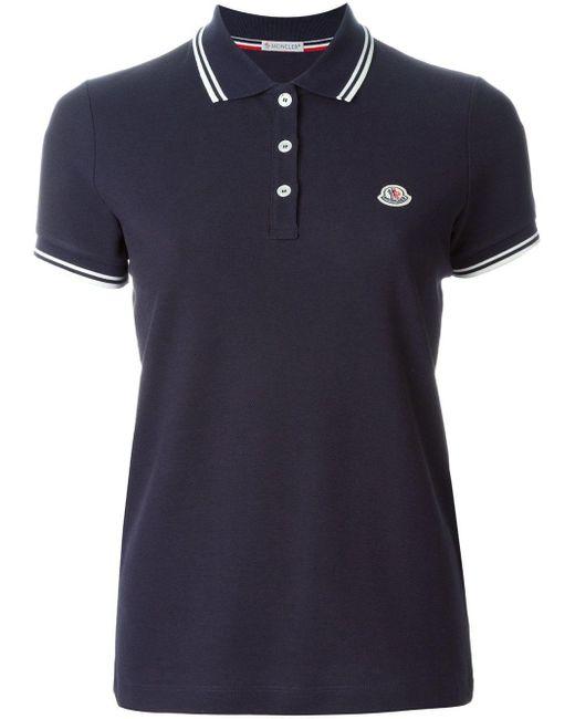 Moncler パイピングカラーポロシャツ Blue