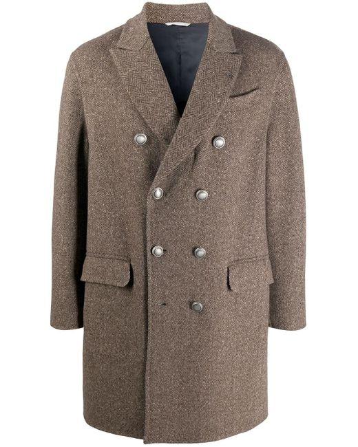 Cappotto doppiopetto di Brunello Cucinelli in Multicolor da Uomo