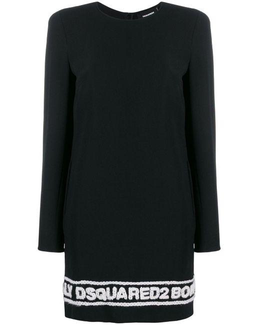 DSquared² ロゴヘム ドレス Black