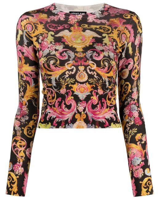 Versace Jeans バロックプリント シャツ Black