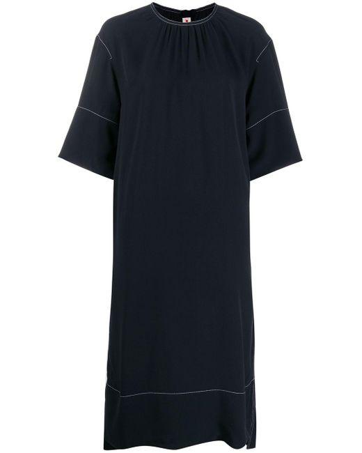 Marni コントラストステッチ ドレス Blue