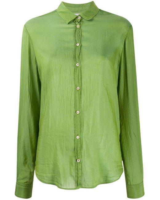 Forte Forte My Shirt テクスチャード シャツ Green