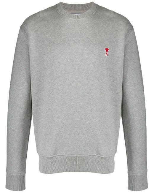 メンズ AMI パッチ スウェットシャツ Gray