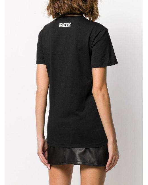 Футболка Из Коллаборации С Endless Karl Lagerfeld, цвет: Black