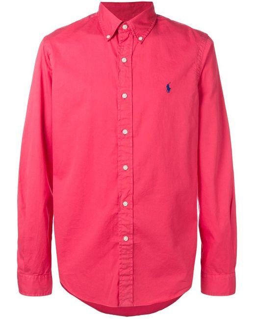 メンズ Ralph Lauren ボタンダウンシャツ Pink