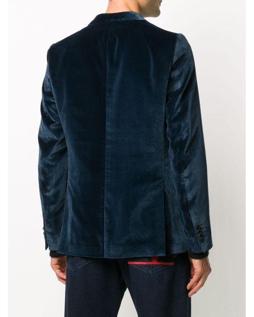 Бархатный Пиджак Paul Smith для него, цвет: Blue