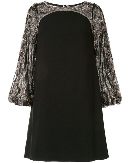 Aidan Mattox Robe courte brodée de sequins femme de coloris noir h5u1A