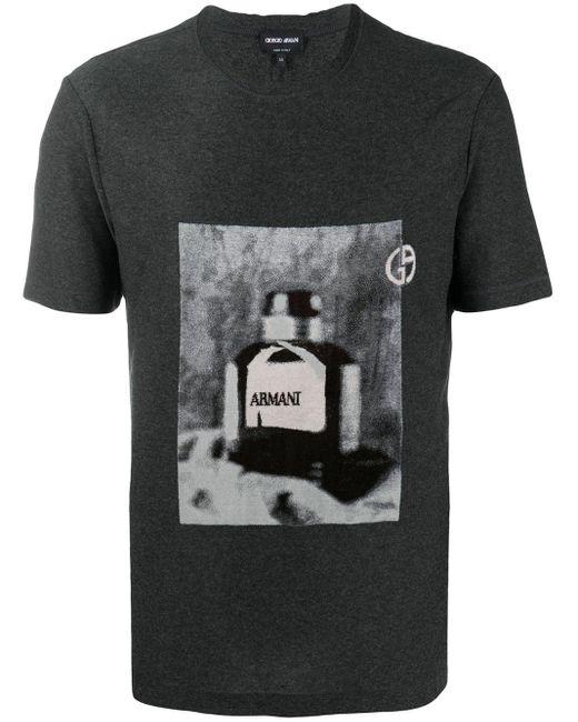 メンズ Giorgio Armani グラフィック Tシャツ Gray
