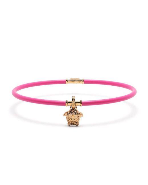 Колье-чокер Aeternitas С Декором Medusa Versace, цвет: Pink