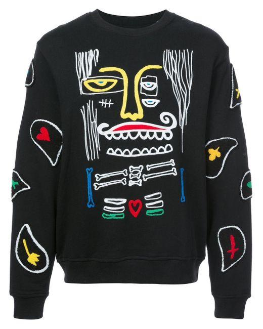 メンズ Haculla Monster ペイズリースウェットシャツ Black