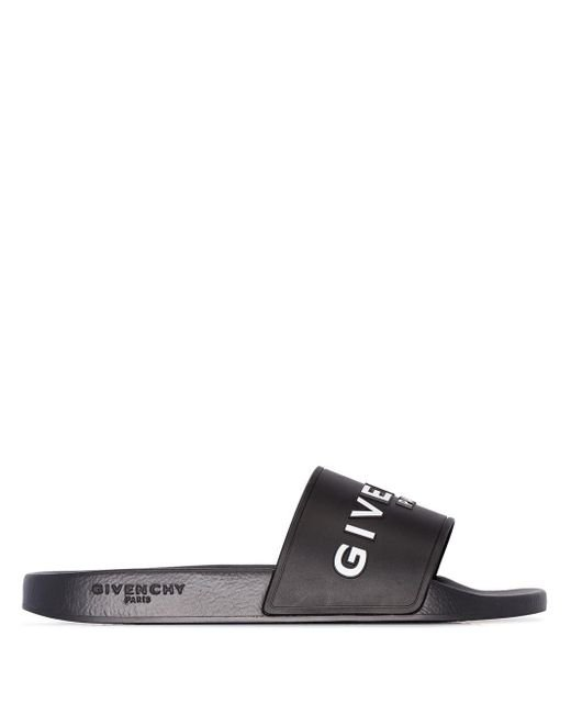 メンズ Givenchy ロゴ サンダル Black