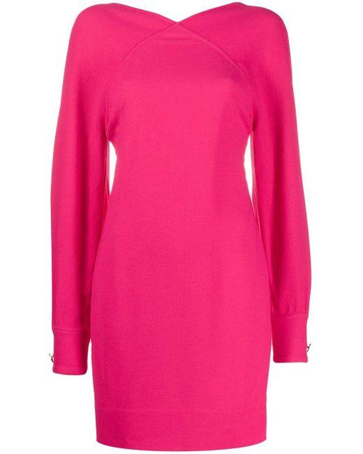Victoria Beckham オープンバック ミニドレス Pink