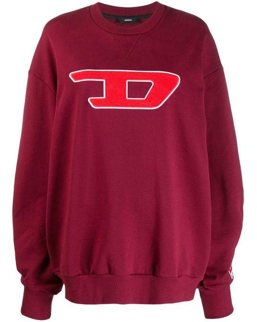 DIESEL ロゴ スウェットシャツ Red
