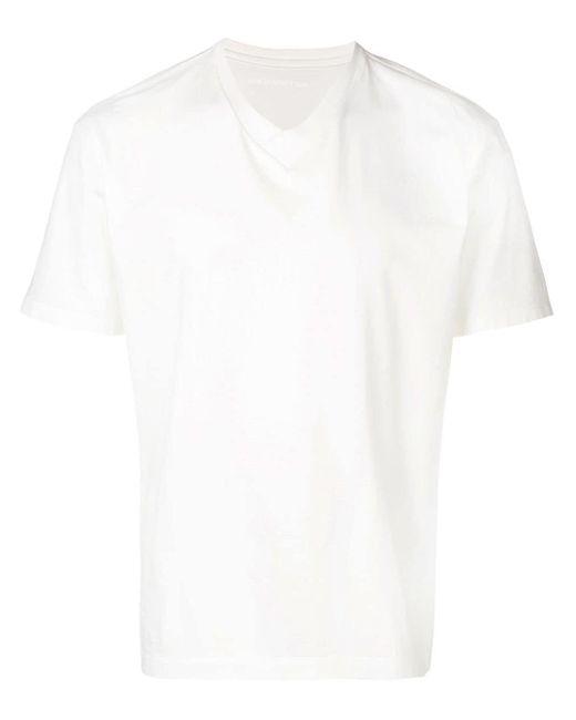 メンズ Issey Miyake Vネック Tシャツ White