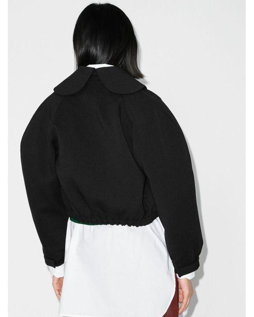 ShuShu/Tong クロップド ボンバージャケット Black