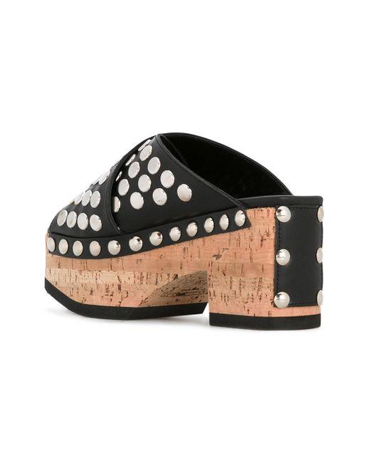 08310fb4a83f ... McQ Alexander McQueen - Black Paloma Sandals - Lyst ...