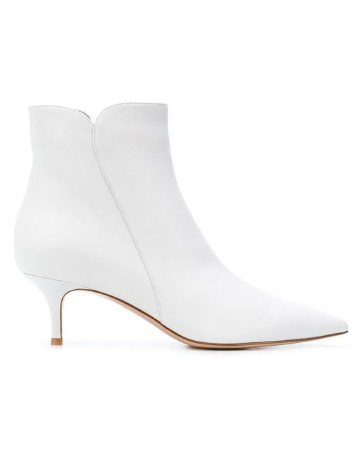 Gianvito Rossi - White Ankle Length Boots - Lyst