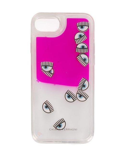 Чехол Для Iphone 7 'eyes' Chiara Ferragni, цвет: Pink