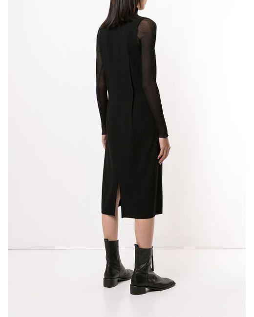 Платье А-силуэта Ann Demeulemeester, цвет: Black