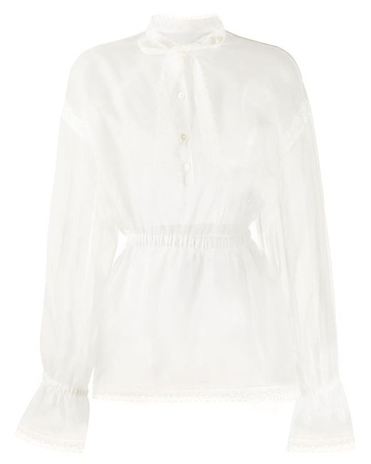 Dolce & Gabbana シアー ブラウス White