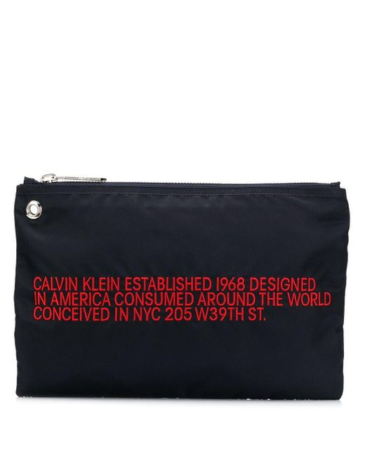 CALVIN KLEIN 205W39NYC エンブロイダリー クラッチバッグ Multicolor