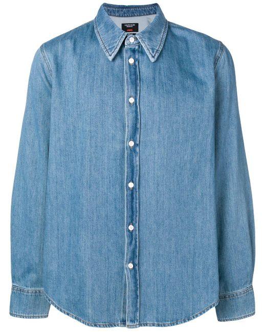 メンズ CALVIN KLEIN 205W39NYC Jaws デニムシャツ Blue