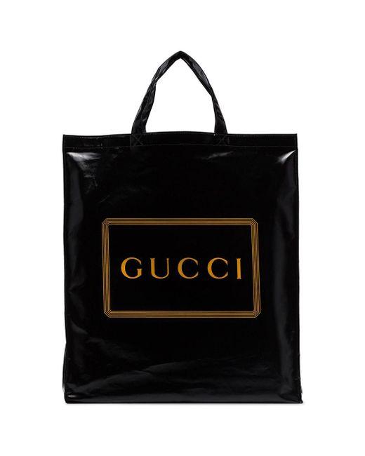 メンズ Gucci ロゴ ハンドバッグ Black