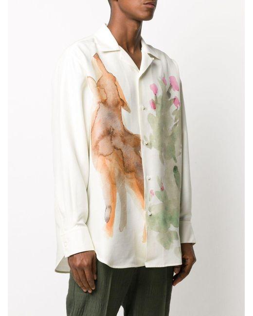 メンズ Jil Sander オーバーサイズ シャツ White