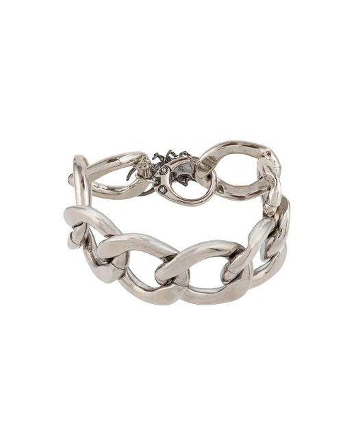 Alexander McQueen Armband mit Käferanhänger in Metallic für Herren