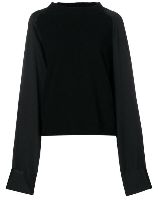 Haider Ackermann - Black Panelled Jumper - Lyst