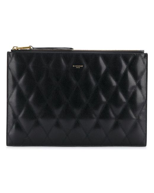 Givenchy - Black Quilted Clutch Bag - Lyst