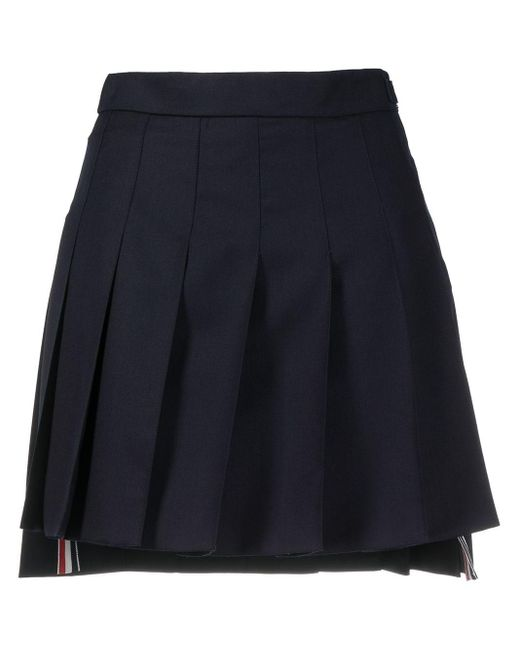 Thom Browne Multicolor Dropped Back Mini Pleated Skirt