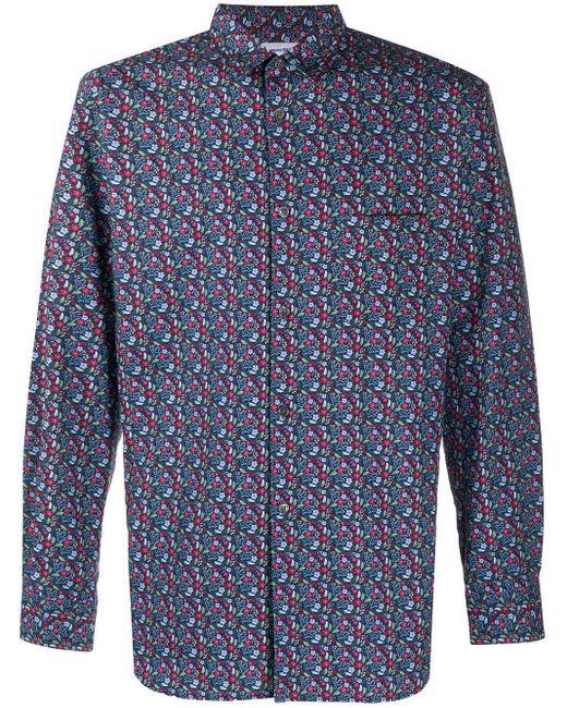 Camicia a fiori di Comme des Garçons in Blue da Uomo