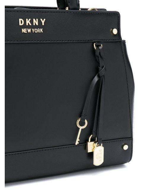 DKNY Thelma レザー ハンドバッグ Black