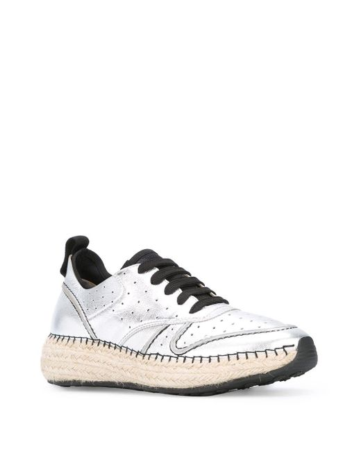 Tod's Gray Braided Sole Sneakers