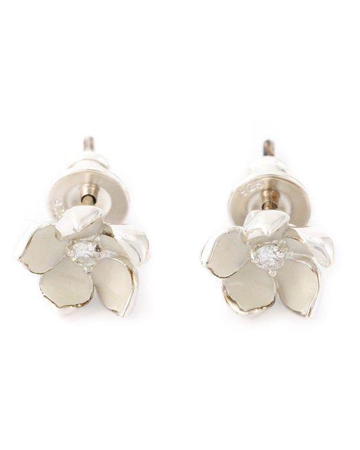 Shaun Leane   White 'cherry Blossom' Diamond Earrings   Lyst