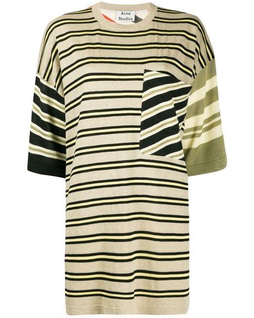 Acne ストライプ Tシャツ Multicolor