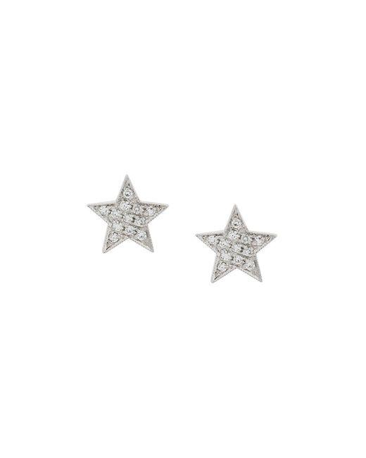 Dana Rebecca Julianne Himiko Star ダイヤモンド ピアス 14kホワイトゴールド Multicolor