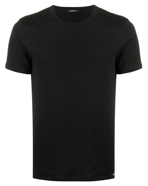 メンズ Tom Ford ショートスリーブ Tシャツ Black