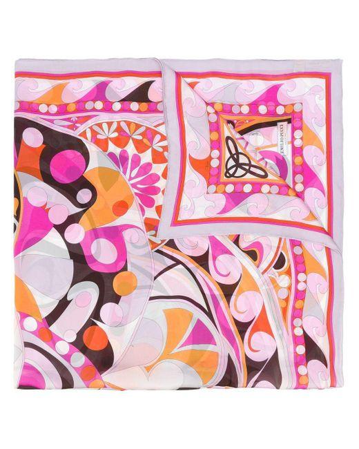 Emilio Pucci フローラルプリント スカーフ Pink