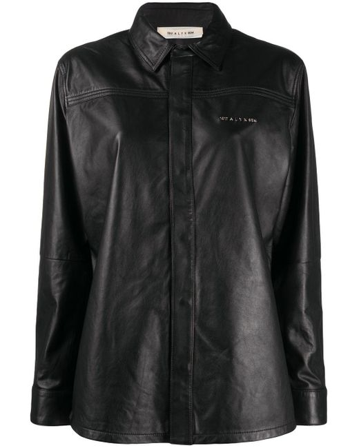 1017 ALYX 9SM Drake レザーシャツ Black