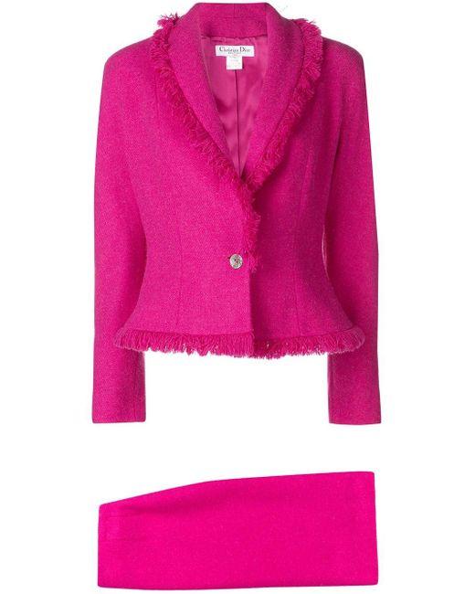 Dior プレオウンドフレイド スカートスーツ Pink
