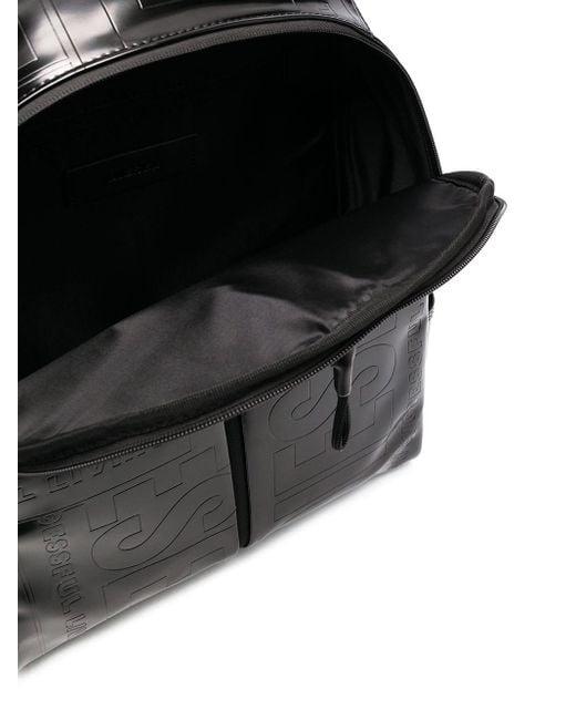 メンズ DIESEL ロゴ バックパック Black